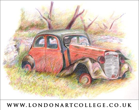 Scrap Car Drawing