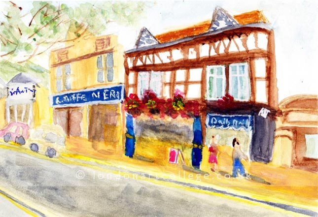 Watercolour online art diploma course