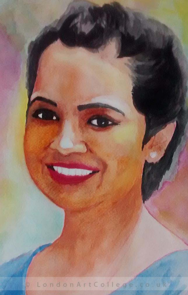 Shuddhodhan Mane 43590 portraits watercolour
