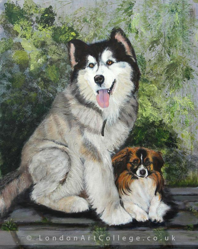 Student Anne Griffin - Pet Portrait Art Course