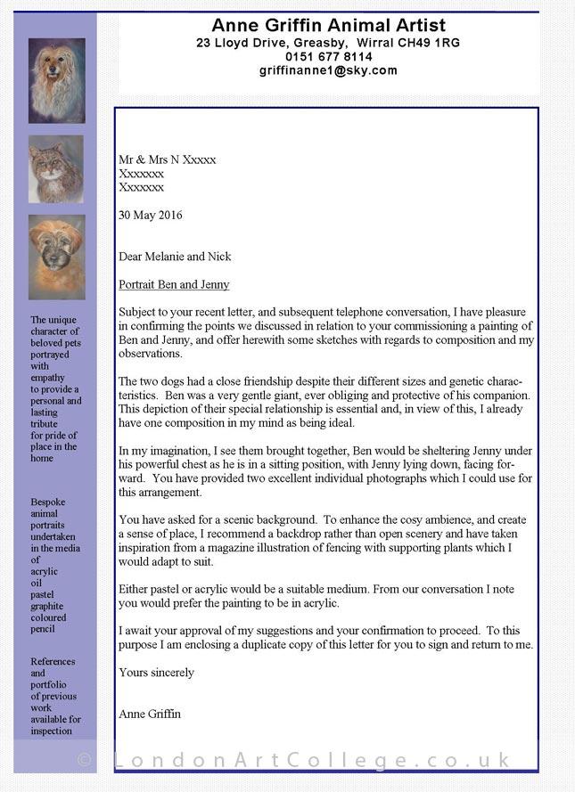 Student Anne Griffin - Pet Portrait Art Course