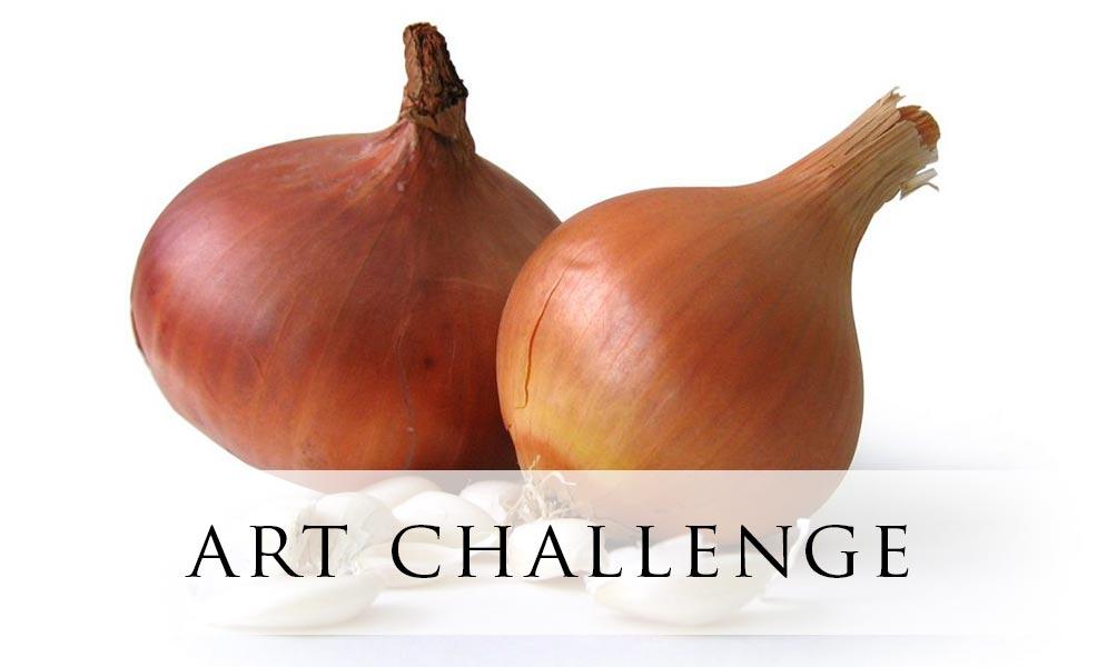 Weekend Art Challenge – Garlic & Onions