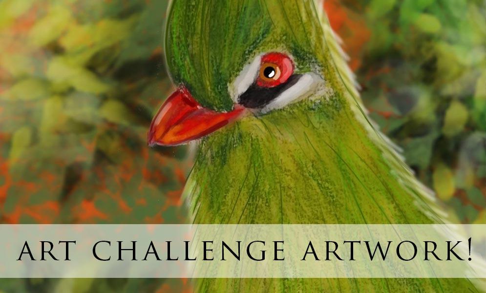 Weekend Art Challenge – Exotic Birds Artwork
