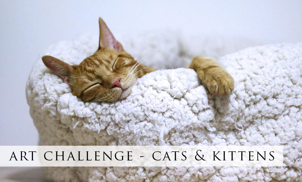 Weekend Art Challenge – Cats & Kittens