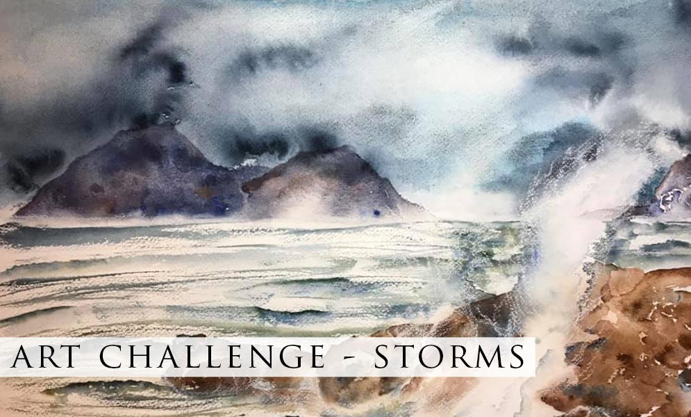 Weekend Challenge – Storms Artwork!