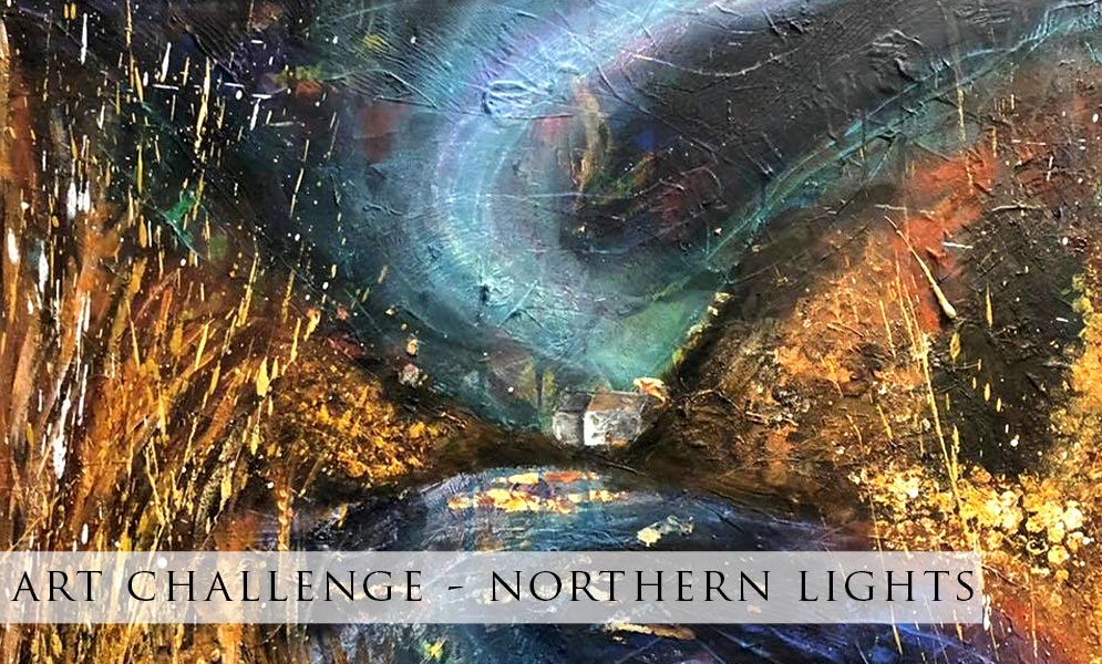 Weekend Art Challenge – Northern Lights