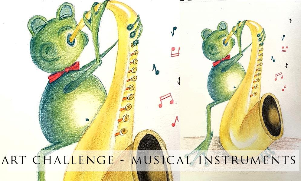 Weekend Art Challenge – Musical Instruments