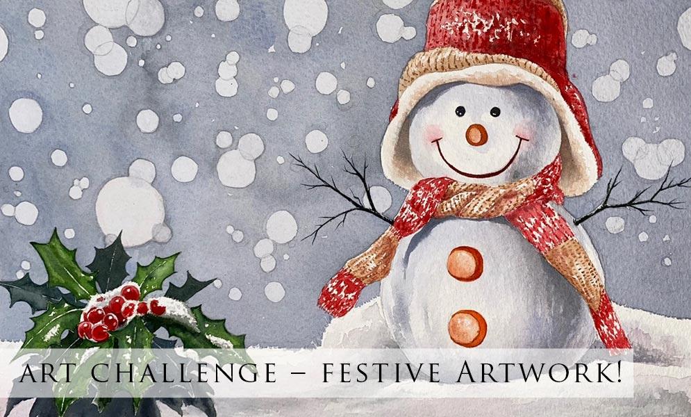 Weekend Art Challenge – Festive Artwork!