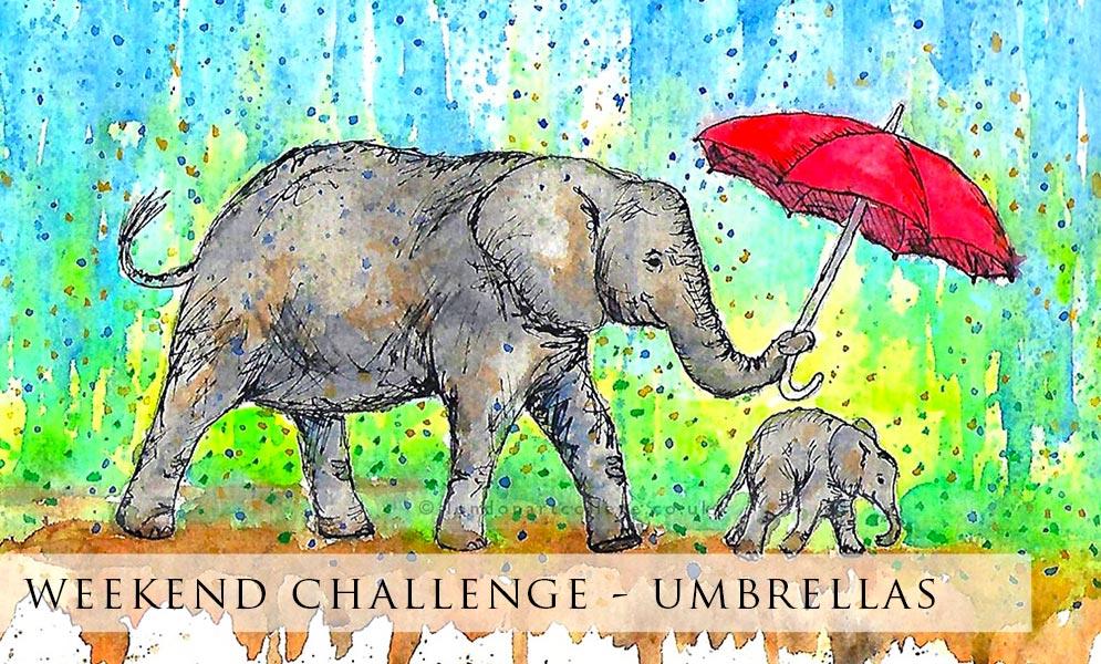 Weekend Art Challenge – Umbrellas