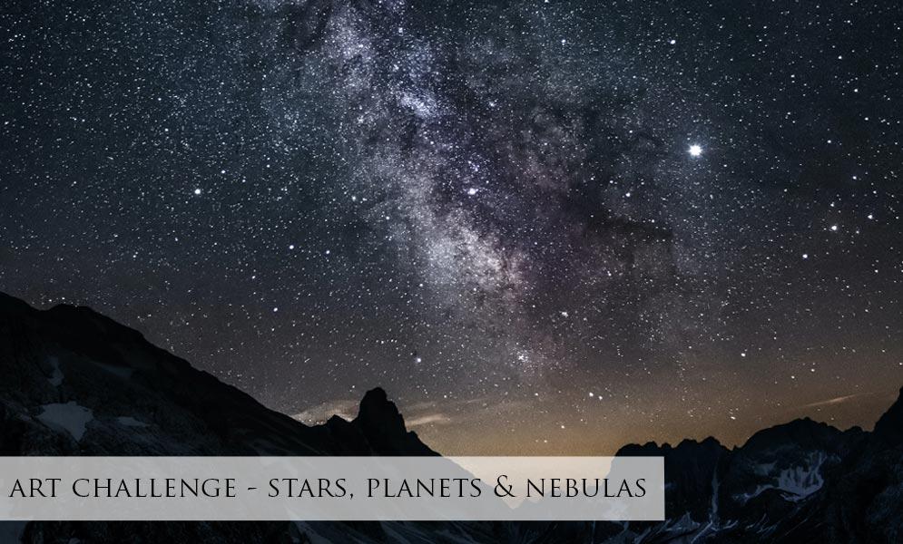 Art Challenge – Stars, Planets & Nebulas