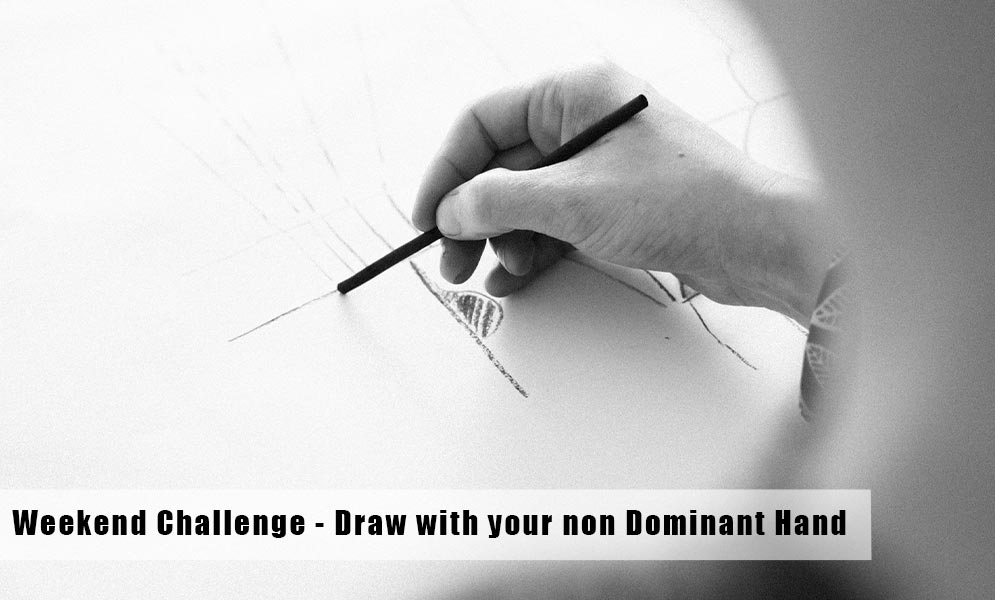Weekend Art Challenge – Draw with your non dominant hand