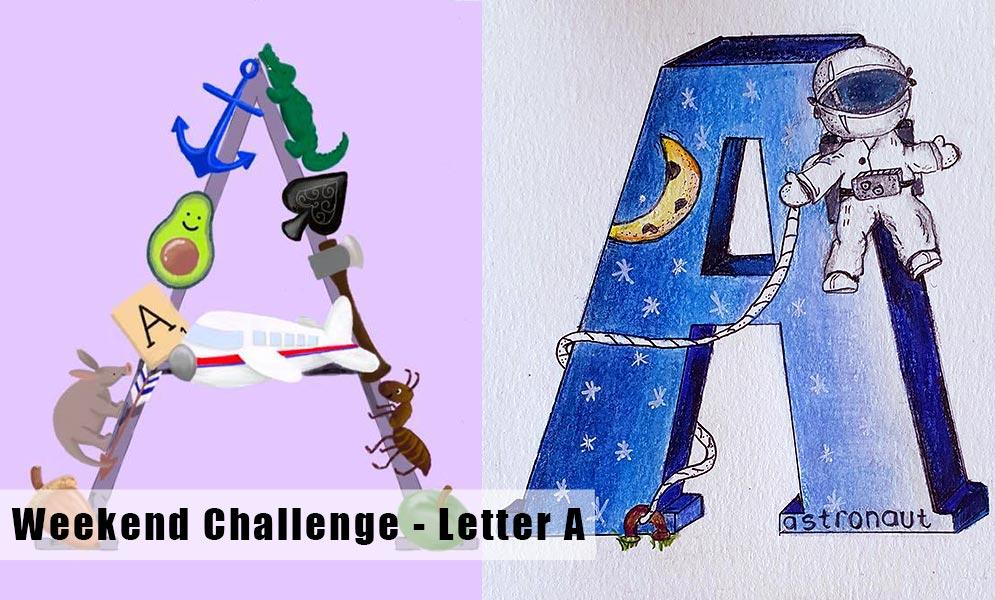 Alphabet Challenge Letter A