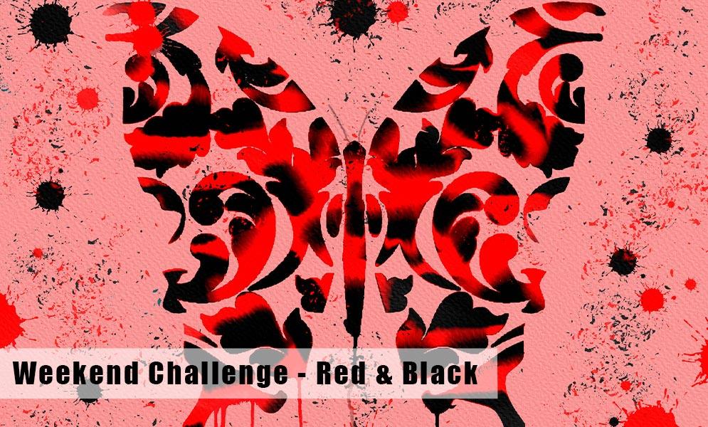 Weekend Art Challenge – Red & Black