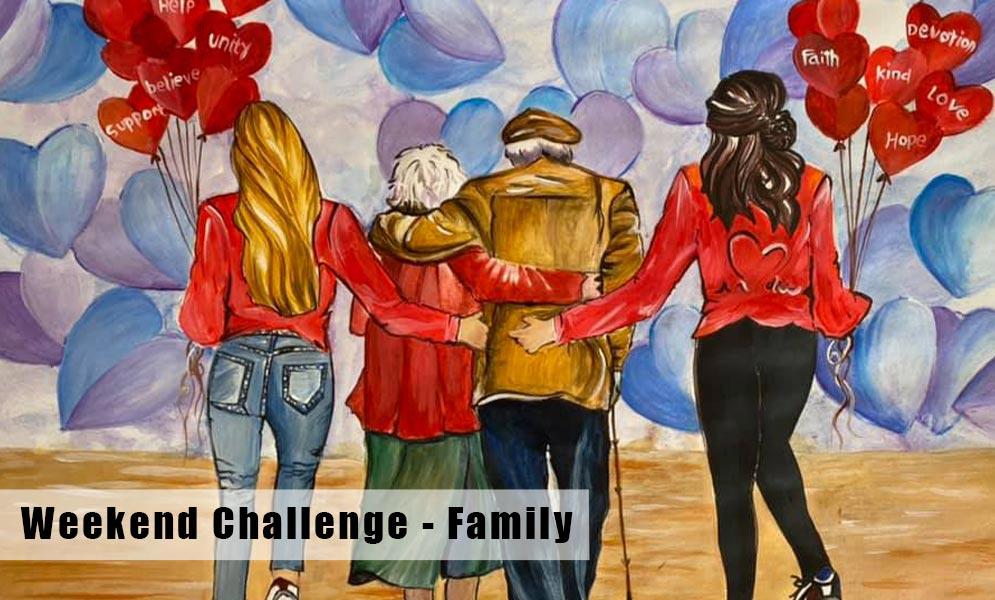 Weekend Art Challenge – Family