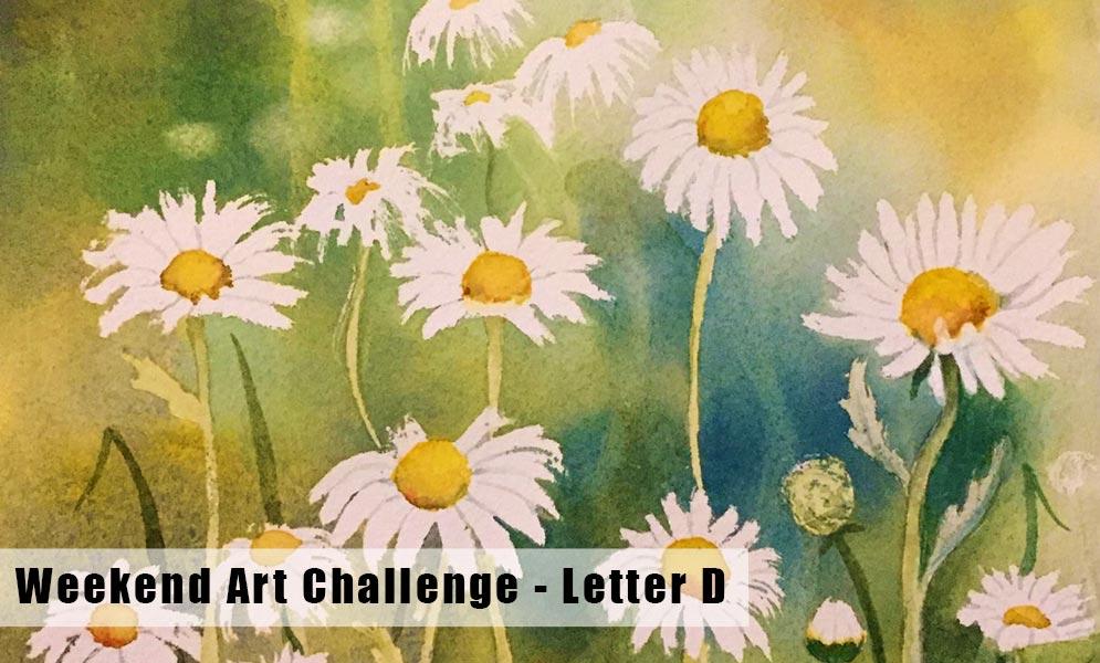 Weekend Art Challenge – Letter D