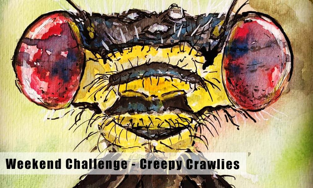 Weekend Art Challenge – Creepy Crawlies!