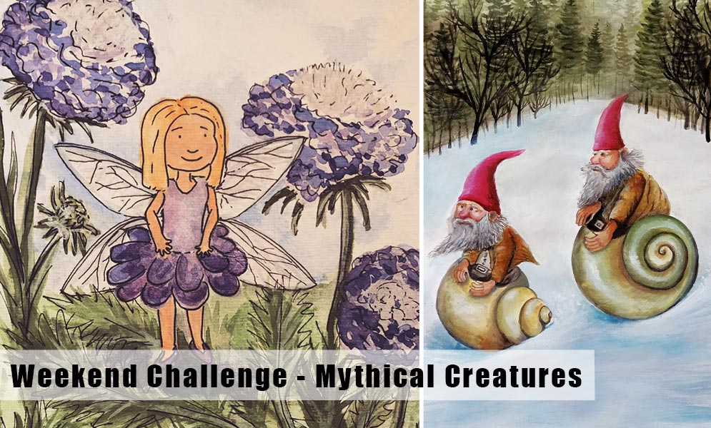 Weekend art Challenge – Mythical Creatures