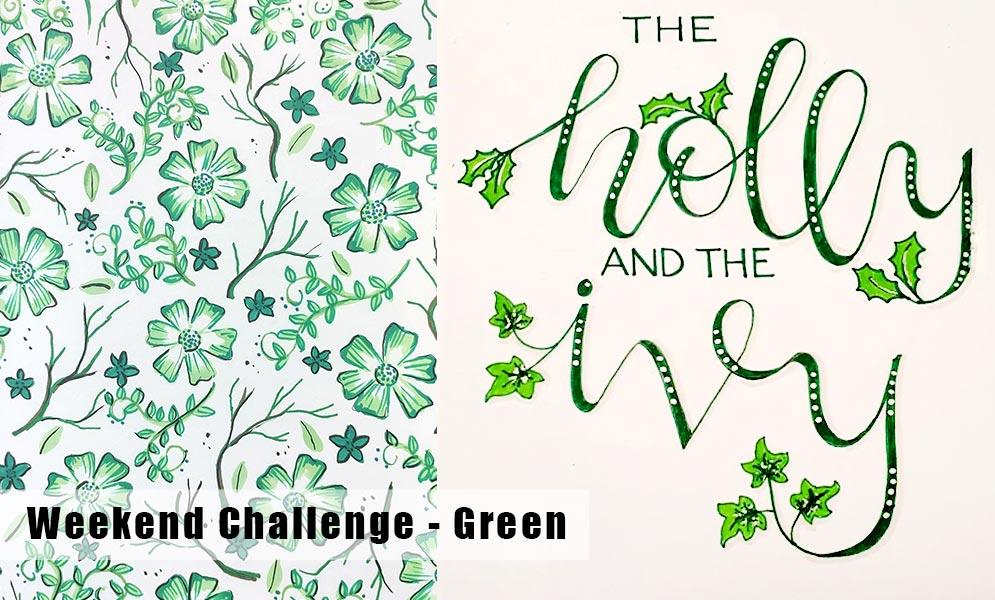 Weekend Art Challenge – Green!