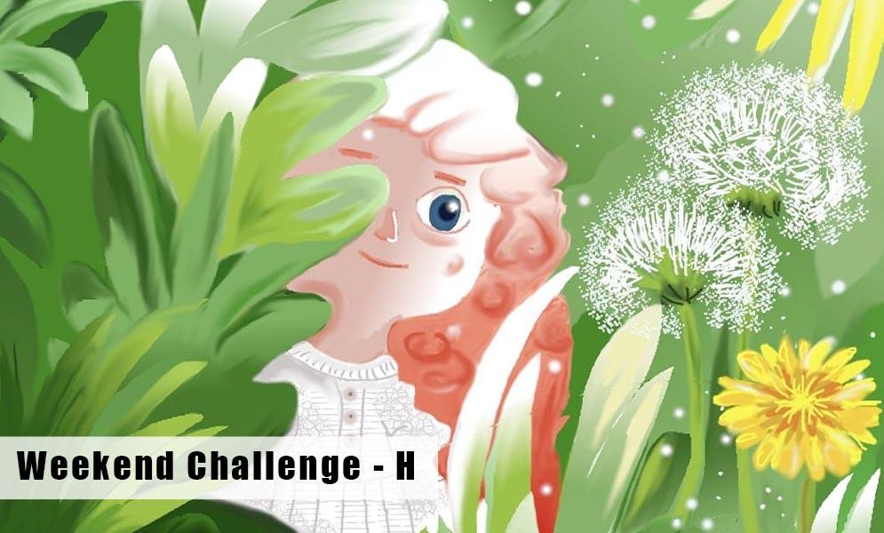 Weekend Art Challenge – Letter H