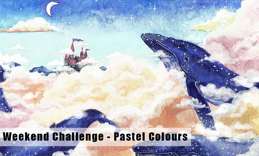 Weekend Art Challenge – Pastel Colours